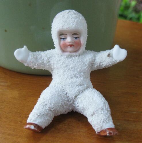 ANTIQUE GERMAN BISQUE SNOW BABY
