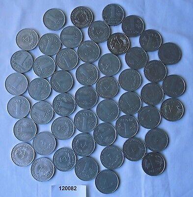Sammlung von 50 x 1 Mark DDR Aluminium Münzen (120082)