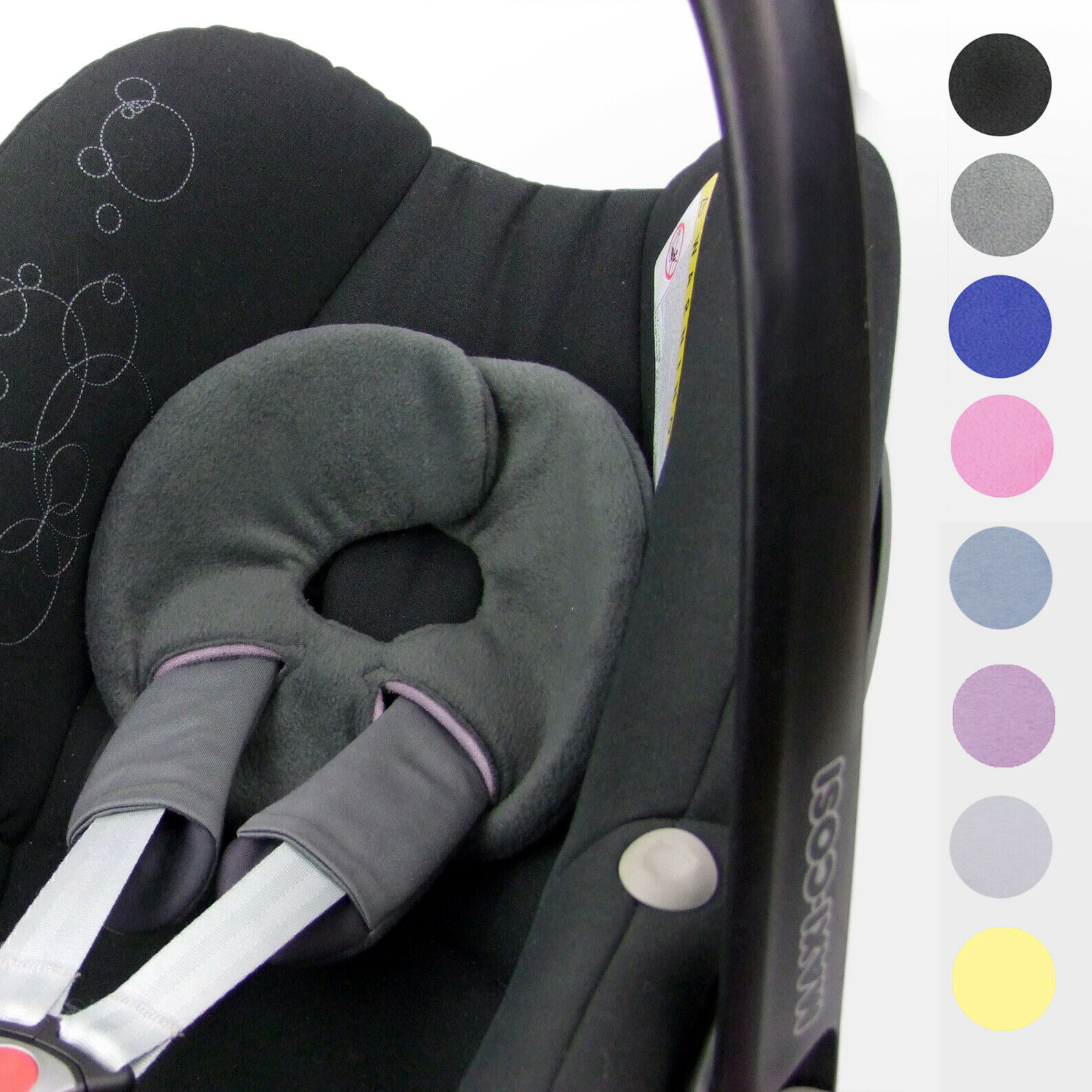 BAMBINIWELT Kopfstütze Kopfpolster für Babyschale MAXI-COSI Pebble, Pebble Plus