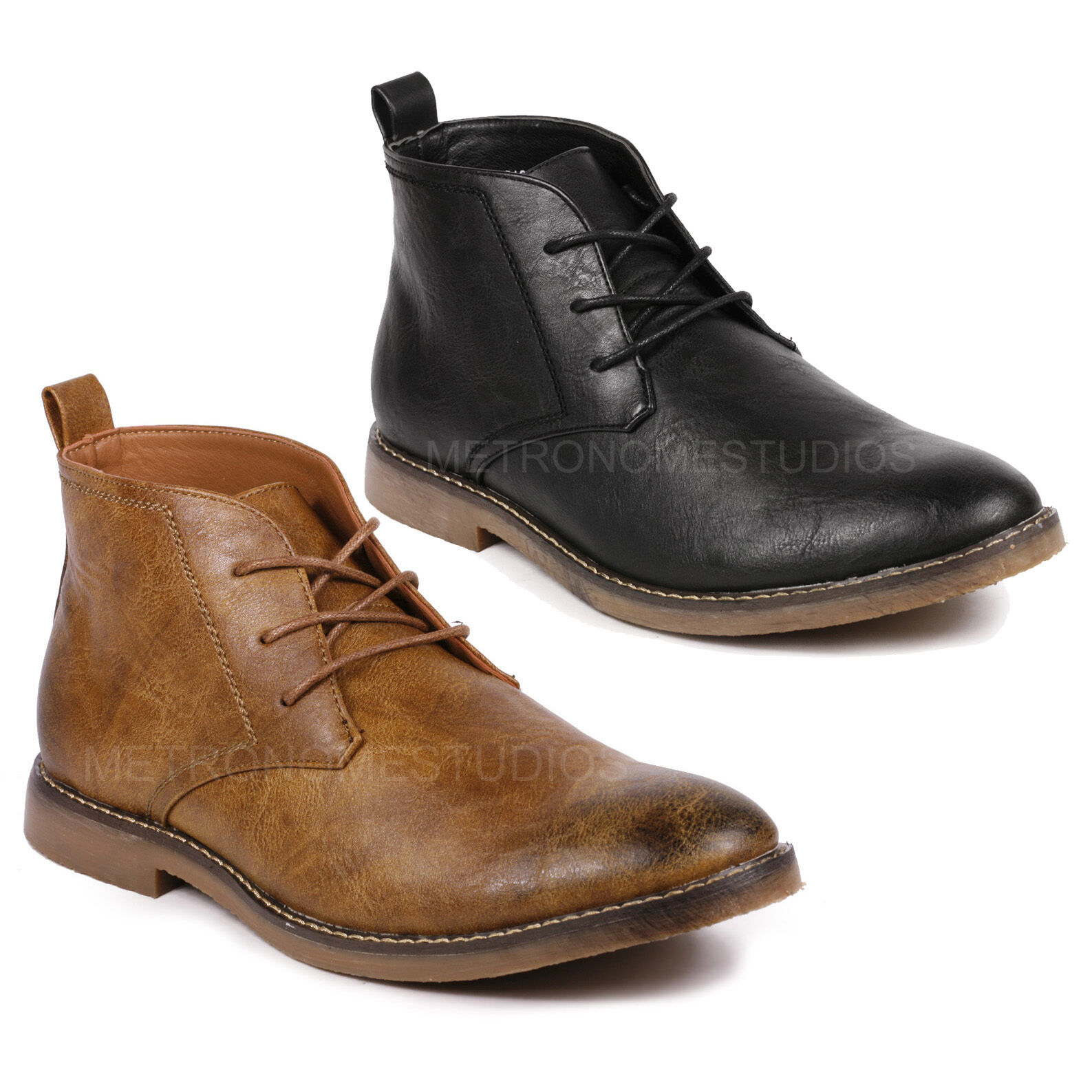 Boots - Men's Lace Up Casual Fashion Ankle Chukka Boots