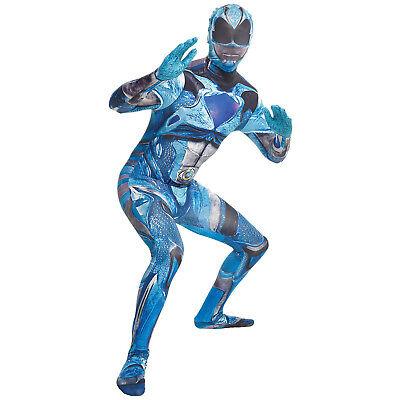 Morphsuits Men's Deluxe Movie Power Rangers Blue Ranger - Blue Power Ranger Morphsuit