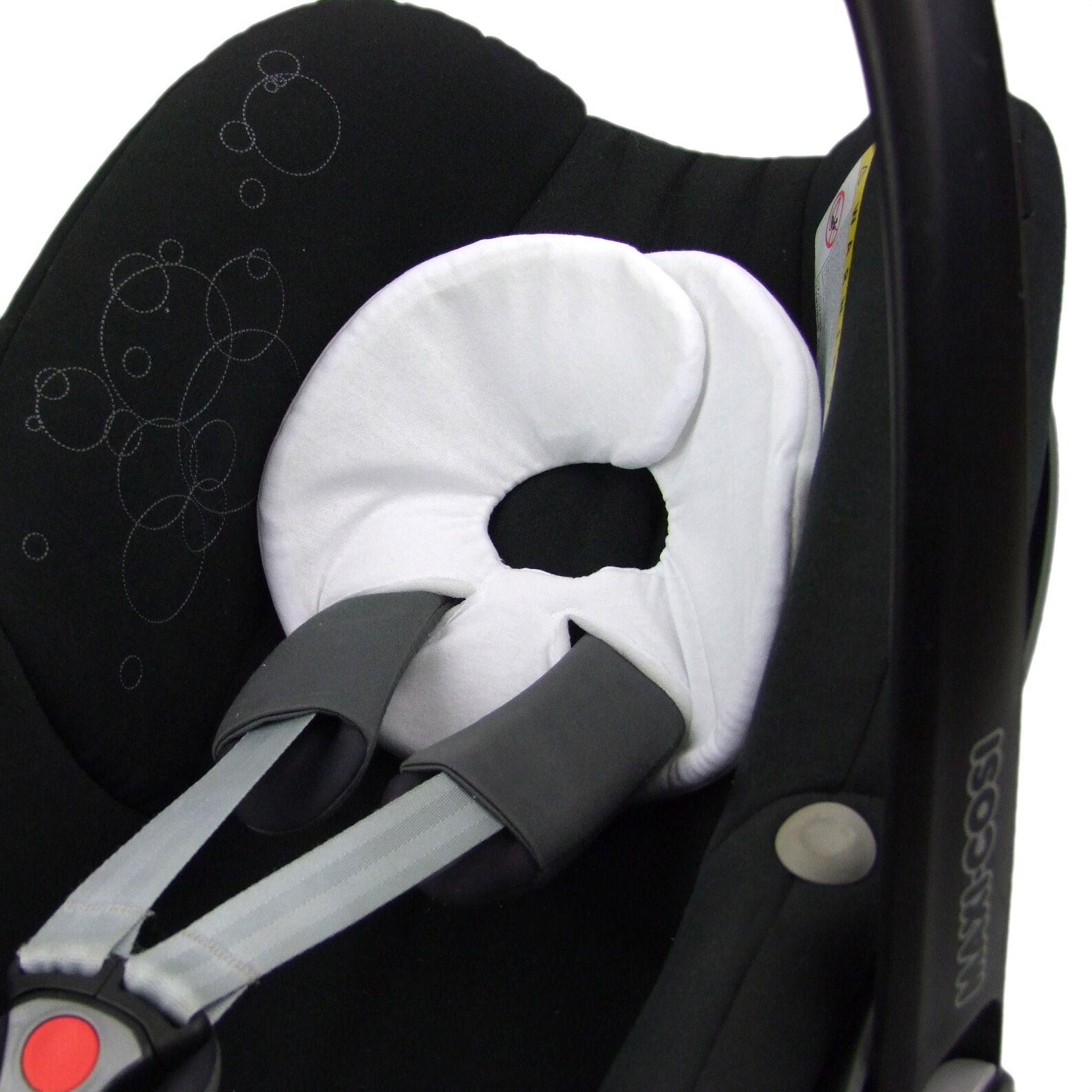 BAMBINIWELT Kopfstütze Kopfpolster für Babyschale MAXI-COSI Pebble, Pebble Plus 13. Baumwolle Weiß