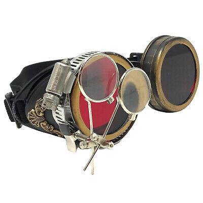 Steampunk costume Goggles Cosplay glasses accessories burning man mad max