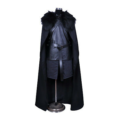 Halloween Game of Thrones Costume Jon Snow Costume Outfit Coat Cosplay Props Set (Halloween Outfits For Men)