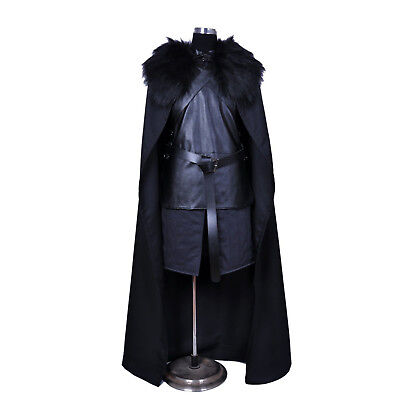 Halloween Game of Thrones Costume Jon Snow Costume Outfit Coat Cosplay Props Set - S Halloween Games