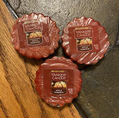 NEW!!! Yankee Candle Apple Pumpkin Tart Wax Melts - Set of 3