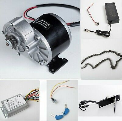 350w 24v Electric Motor W Gear Reductionreverse Controllerchargerpedalmore