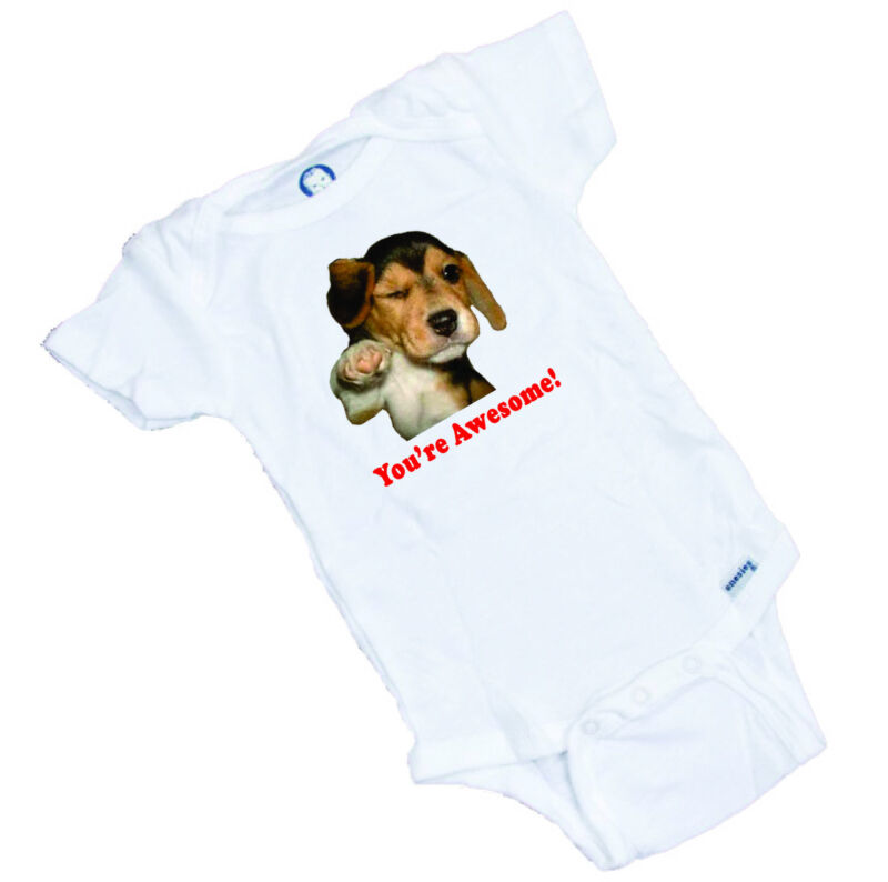 Your Awesome!  Custom Printed Onesie & Tee Shirt. Great Shower Gift