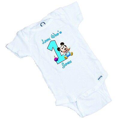 LOOK Who's One. Personalized Custom printed onesie / Romper / Tee Shirt  (Custom Onesies)