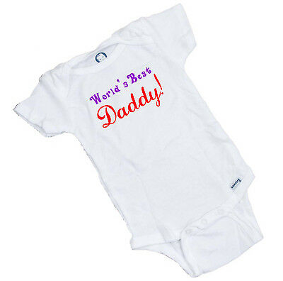 World's Best Daddy Fathers Day Onesie / Romper / Bodysuit Great baby shower (Best Gerber Baby Shower Gifts)