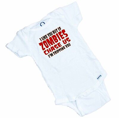 Funny ZOMBIE Onesie / Romper or Tee Shirt  GREAT BABY SHOWER GIFT  Funny Baby Onesie T-shirt