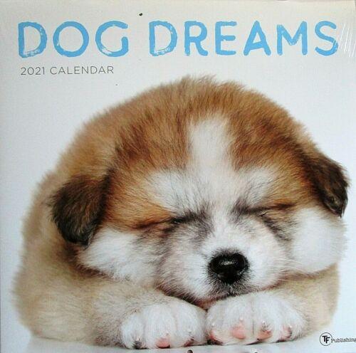 "2021 Wall Calendar DOG DREAMS  {12"" x 24 When Opened}"