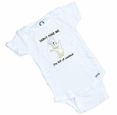 Funny Pilsbury Doughboy  Onesie / Romper or Tee Shirt  GREAT BABY SHOWER GIFT  Funny Baby Onesie T-shirt