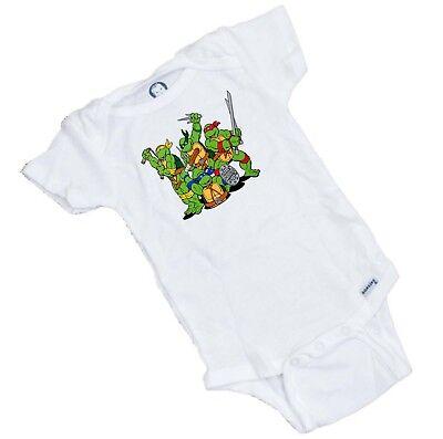 Ninja Turtles  Funny Baby Onesie / Bodysuit  Shower Gift - Baby Ninja