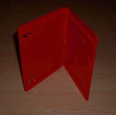 10 Blu Ray Hüllen Einfach 1fach 1-fach rot red BluRays Blue Ray 1er Neu