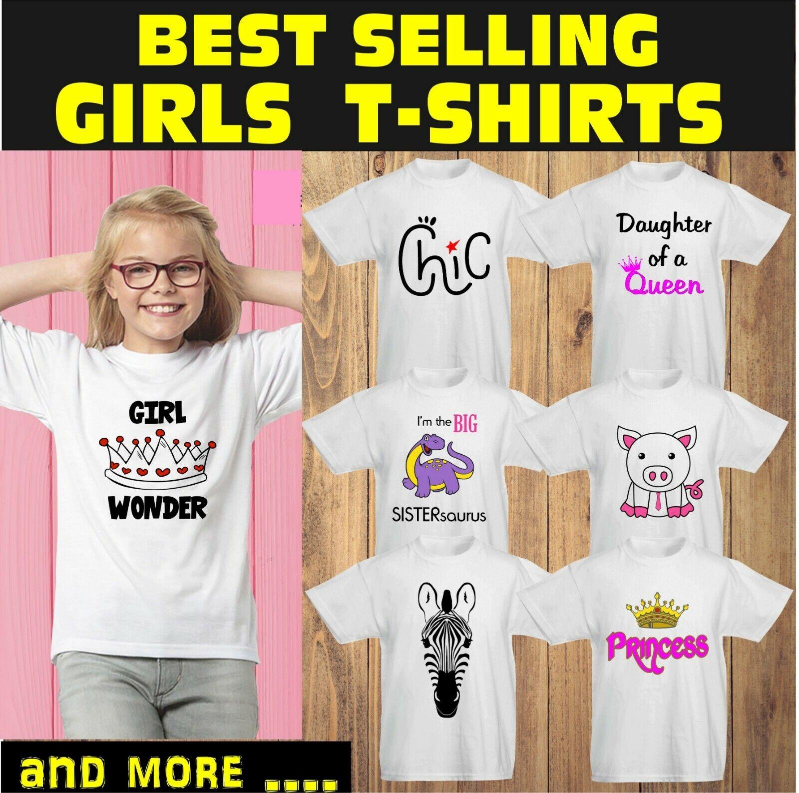 Kids Children Shirts Princess Cutie Little Sister Best Gift