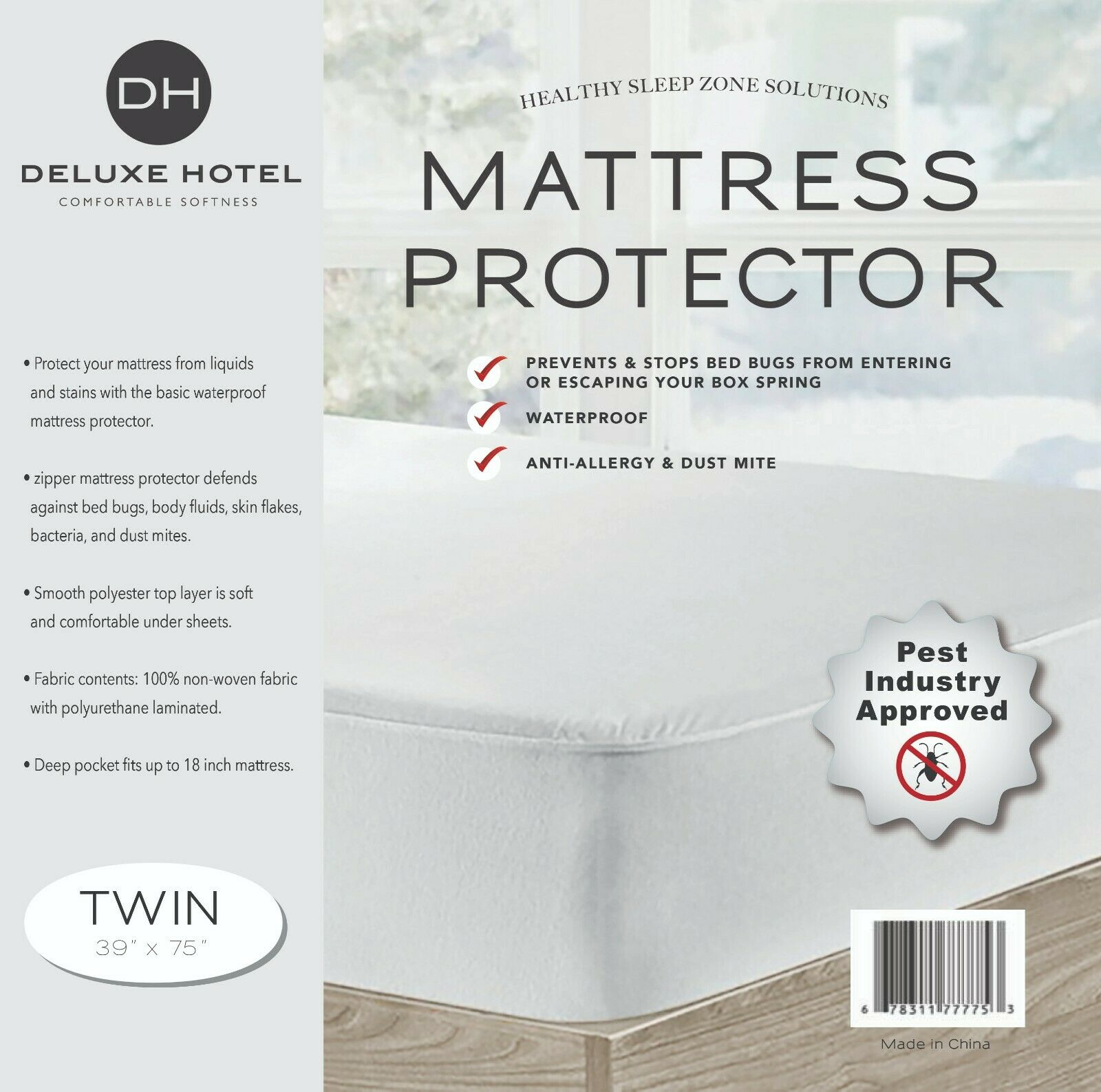 Ultimate Bed Bug Blocker Zippered Mattress Encasement