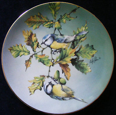 """Hamilton Collection 8.5"""" Plate Colourful Birds of Britain Blue Tit - See Photos"""