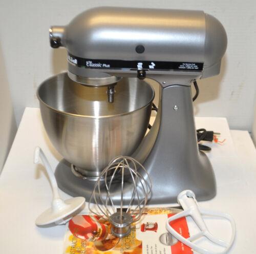 KitchenAid KSM75SL Classic Plus Stand Mixer 4.5-Quart 10-Speed Tilt-Head Silver