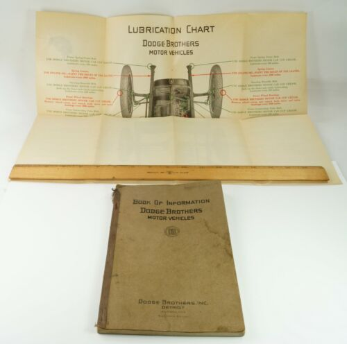 1926 Dodge Brothers Motor Vehicles Book of Information with LUBRICATION CHART