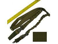Tactical 550 Paracord Rifle Gun Shotgun Sling 1 Point Compass /& Flint CROCODILE