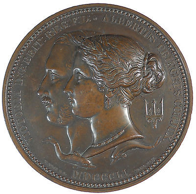 Great Britain THE GREAT EXHIBITION PRIZE MEDAL bronze 76mm by Wm. and L.C. Wyon