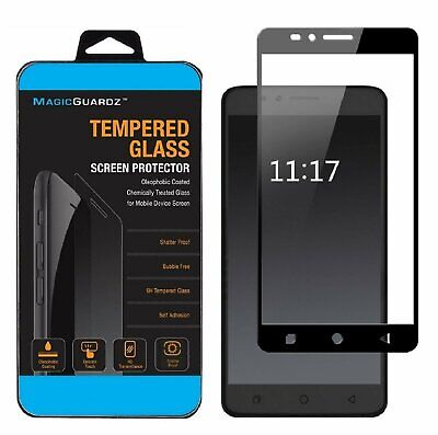 MagicGuardz®  for T-Mobile REVVL Plus Full Cover Tempered Glass Screen Protector Cell Phone Accessories