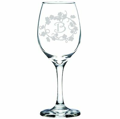 Engraved Personalized Customized Wine Glass Monogram or Designed to Your