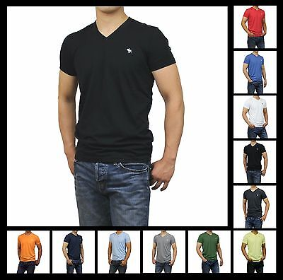 New NWT Abercrombie A F by Hollister Men's V-Neck Tee Shirt Muscle Fit All Size