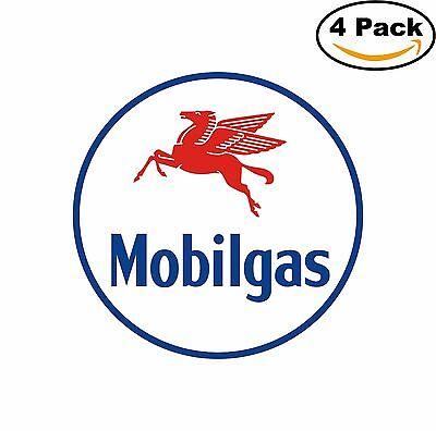 Mobil Gas Vintage Decal Diecut Sticker 4 Stickers