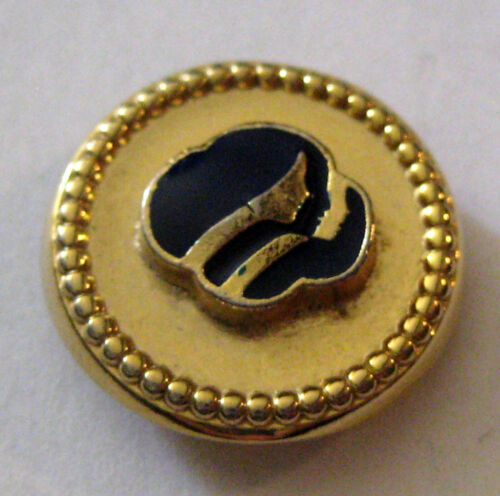 """Girl Scout 5/8"""" BUTTON COVER Clothing Accessory BLUE FACES CONTEMPORARY Jewelry"""