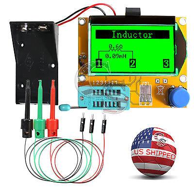 12864 Mega328 Esr Transistor Resistor Diode Capacitor Mosfet Tester W Test Hook