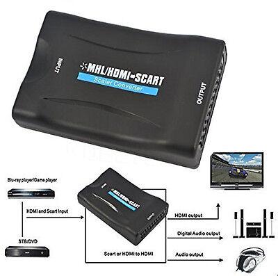 Scart auf HDMI Konverter Wandler Video Audio AV 1080P 720P HD TV DVD converter