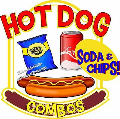 Hot Dogs Soda Combos Decal 7 Restaurant Food Truck Concession Vinyl Sticker