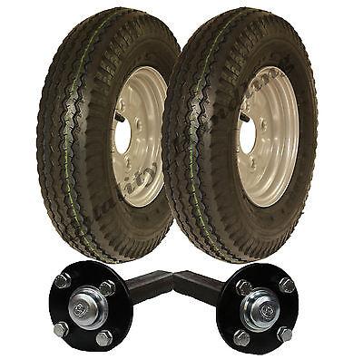 High speed trailer kit 4.80/4.00 - 8 road legal wheels + hub & stub axle 400 - 8