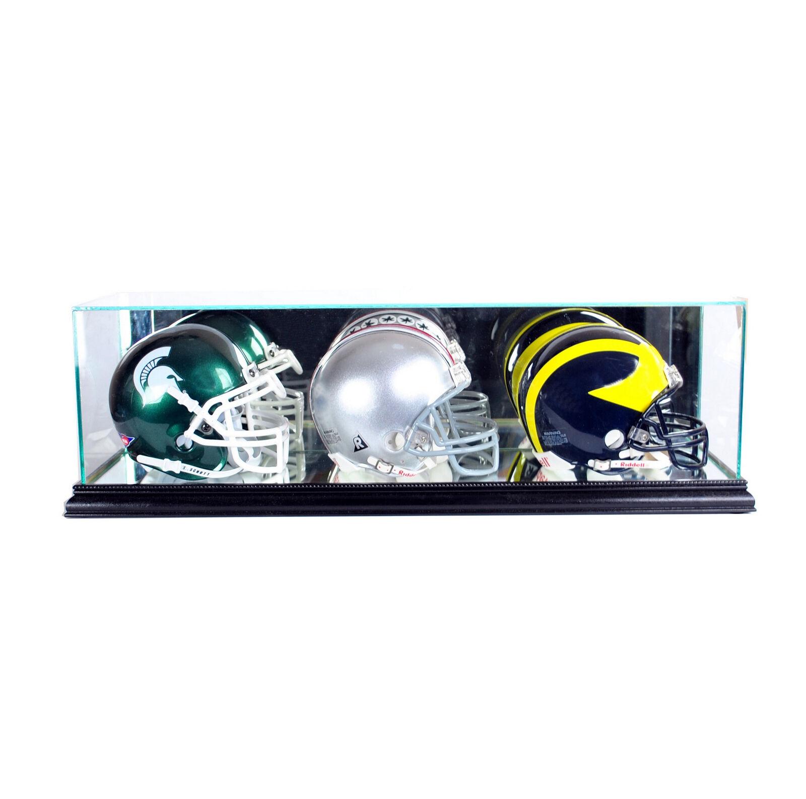 Autographs-original Sports Mem, Cards & Fan Shop New Denver Broncos Football Helmet Display Case Black Sport Molding Uv Nfl
