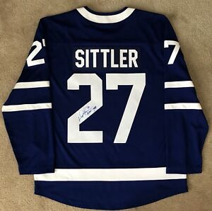 Darryl Sittler Toronto Maple Leafs Jersey Autographed