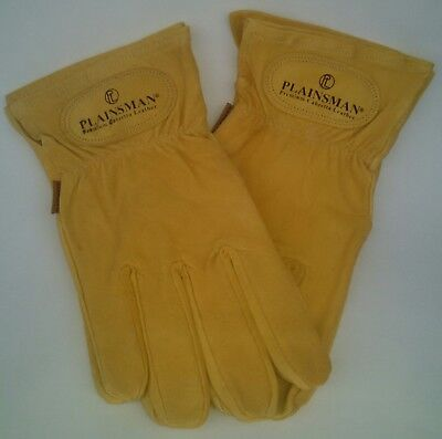 One 1 Pair Plainsman Goatskin Leather Wholesale Work Gloves Small Free Ship