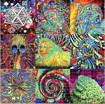PSYCHEDELIC ART MIX X9 BLOTTER ART LSD ACID FREE PAPER 900 SQUARES PRINT HOFMANN