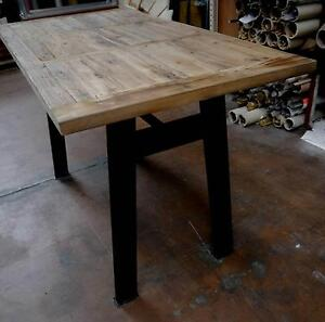 New Recycled Rustic Timber French Industrial Metal Dining Tables Melbourne CBD Melbourne City Preview
