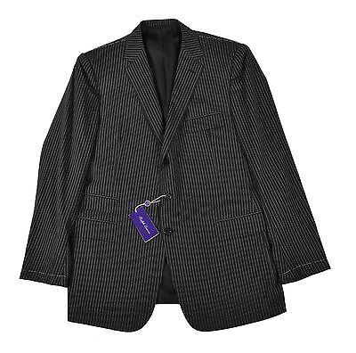 Ralph Lauren Purple Label Drake Custom Fit 3 Piece Gray Wool Suit 44 L New $5495 Custom Fit Three Button Suit