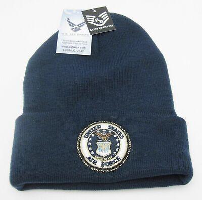 4e51a5de530 U.S. AIR FORCE Beanie Cuff Skull Cap Hat Toboggan U S Military Winter Ski  Cap