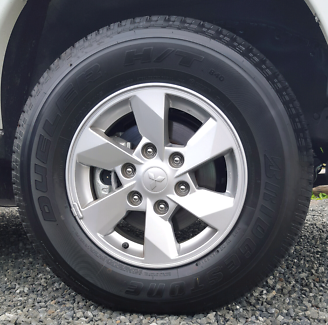 New 2016 Mitsubishi triton rims and Bridgestone tyres