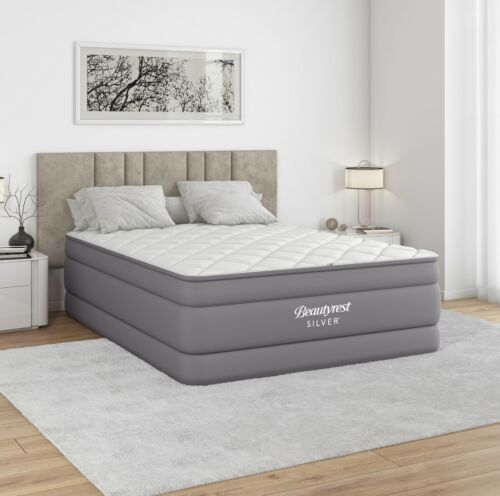 Beautyrest Silver Cushionaire 20 in Auto Shut-Off Air Mattress, with Built-in