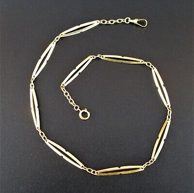 Vintage Pocket Watch Chain in Portuguese 19.2 Karats SOLID GOLD - 16.5 Grams