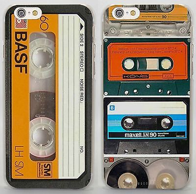- Magnetic tape cassette audio vintage rigid case cover for iphone 6 7 Samsung S8