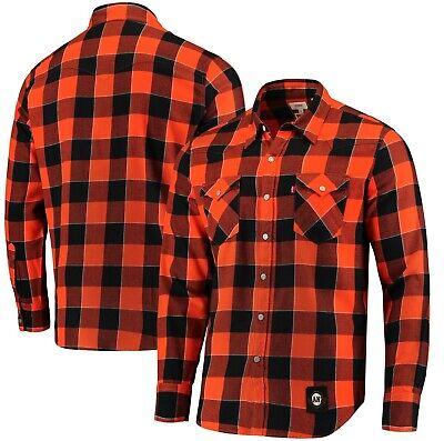 Levi's MLB SF Giants Baseball Orange Buffalo Western Plaid Shirt Size M L 2XL - Giant Plaid Shirt