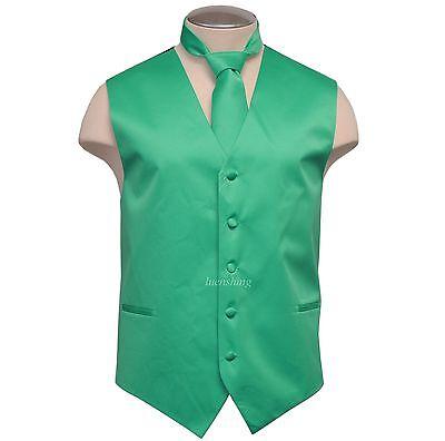 New Brand Q Formal Men's vest tuxedo waistcoat_necktie Turqu