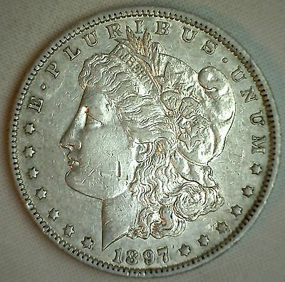 1897 O Morgan Silver Dollar XF Circulated New Orleans Mint US $1 Coin #JC