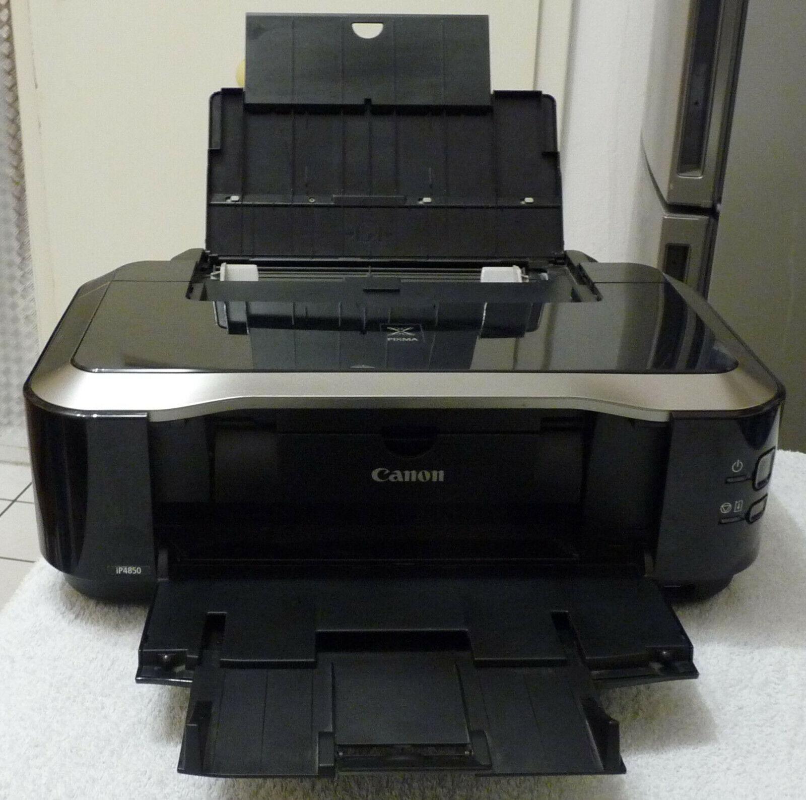Tintenstrahl-Drucker Canon iP4850 gebraucht OHNE Druckkopf RG mit U-Steuer
